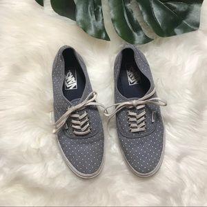 Vans blue polka dot sneakers women's size 8.5